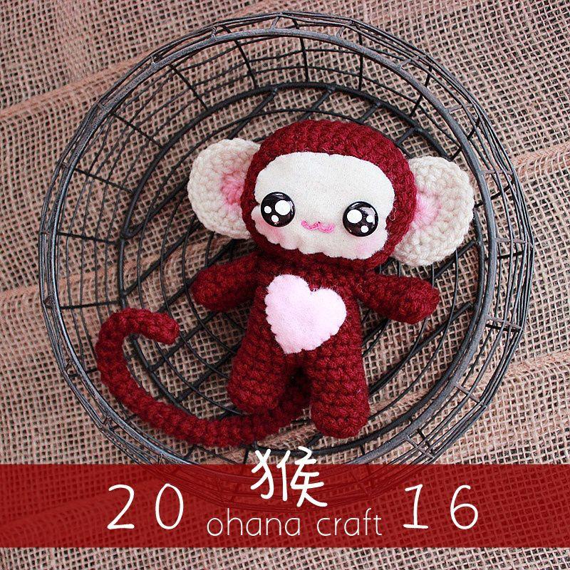 Lucky the Monkey -Free crochet pattern | Mono