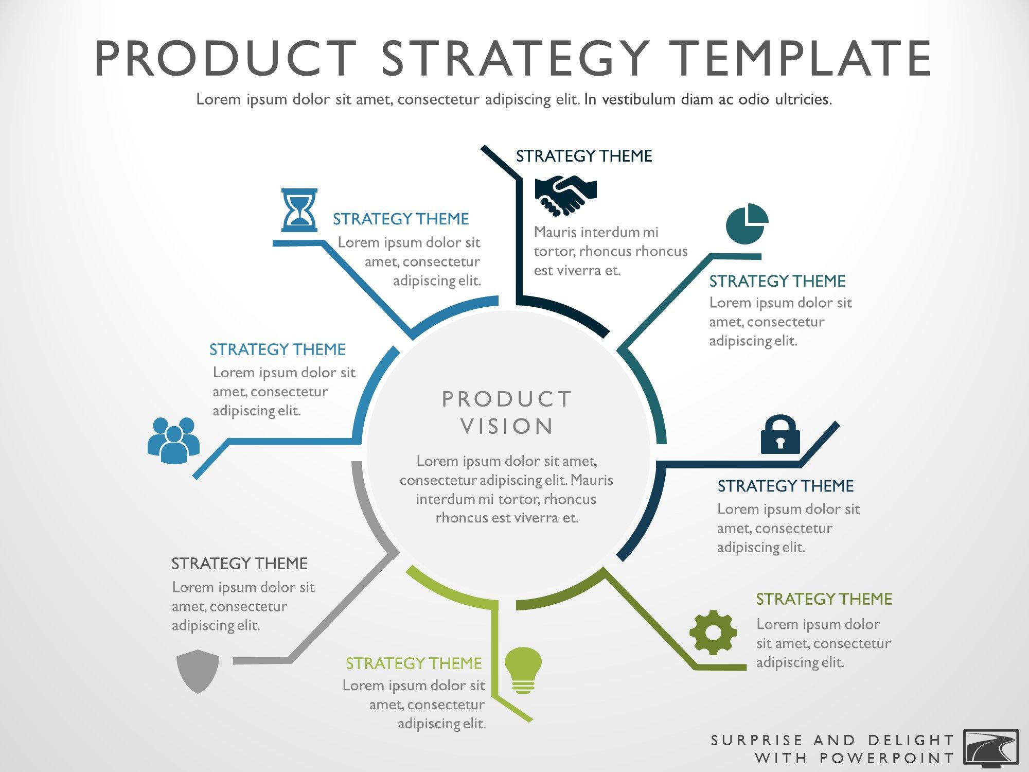 8 Steps Circular Product Development Strategy Diagram