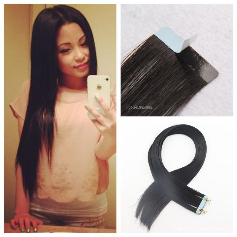 Tape In Human Hair Extensions 10a Original Natural Raw Virgin Remy