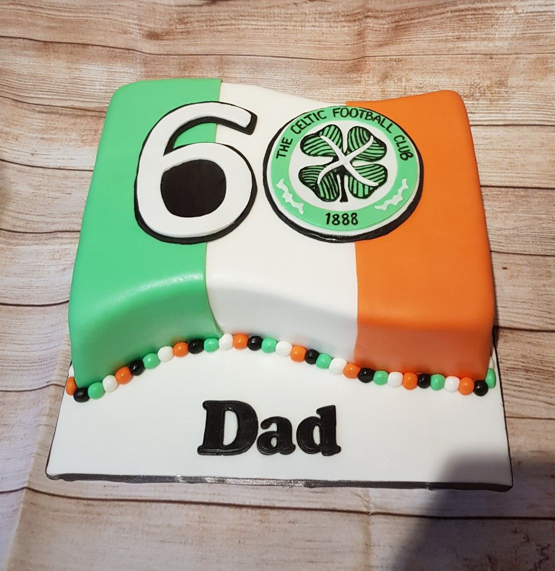 Celtic football club Irish flag cake (With images) Flag