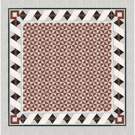 Via Gmbh Terrazzo Triangle Pattern Red White 711432