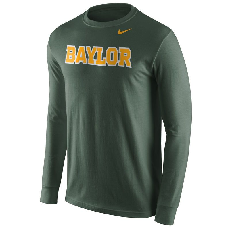 Baylor Bears Nike Wordmark Long Sleeve T-Shirt - Green - 92a87f17d