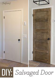 Foyer update diy salvaged door salvaged doors foyers and builder foyer update diy salvaged door flush doorssalvaged doorsinterior planetlyrics Image collections