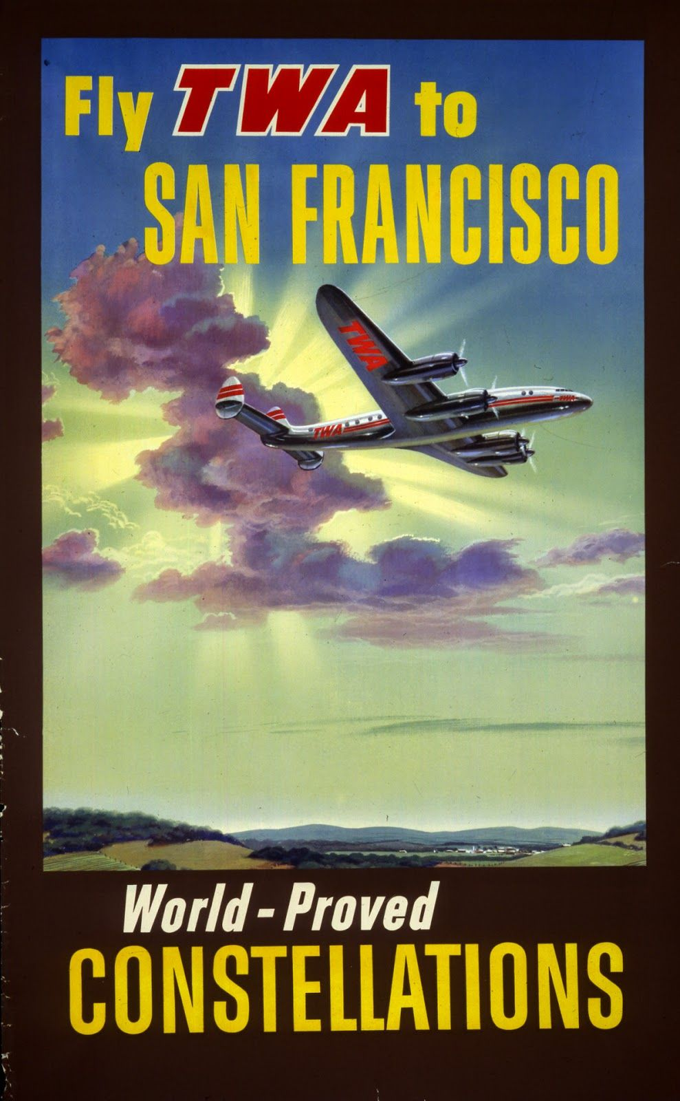 1957 San Francisco. TWA Airlines. ❣Julianne McPeters❣ no pin limits