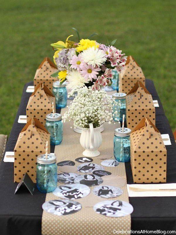 Elegant Graduation Table Decor Use A Chic Black