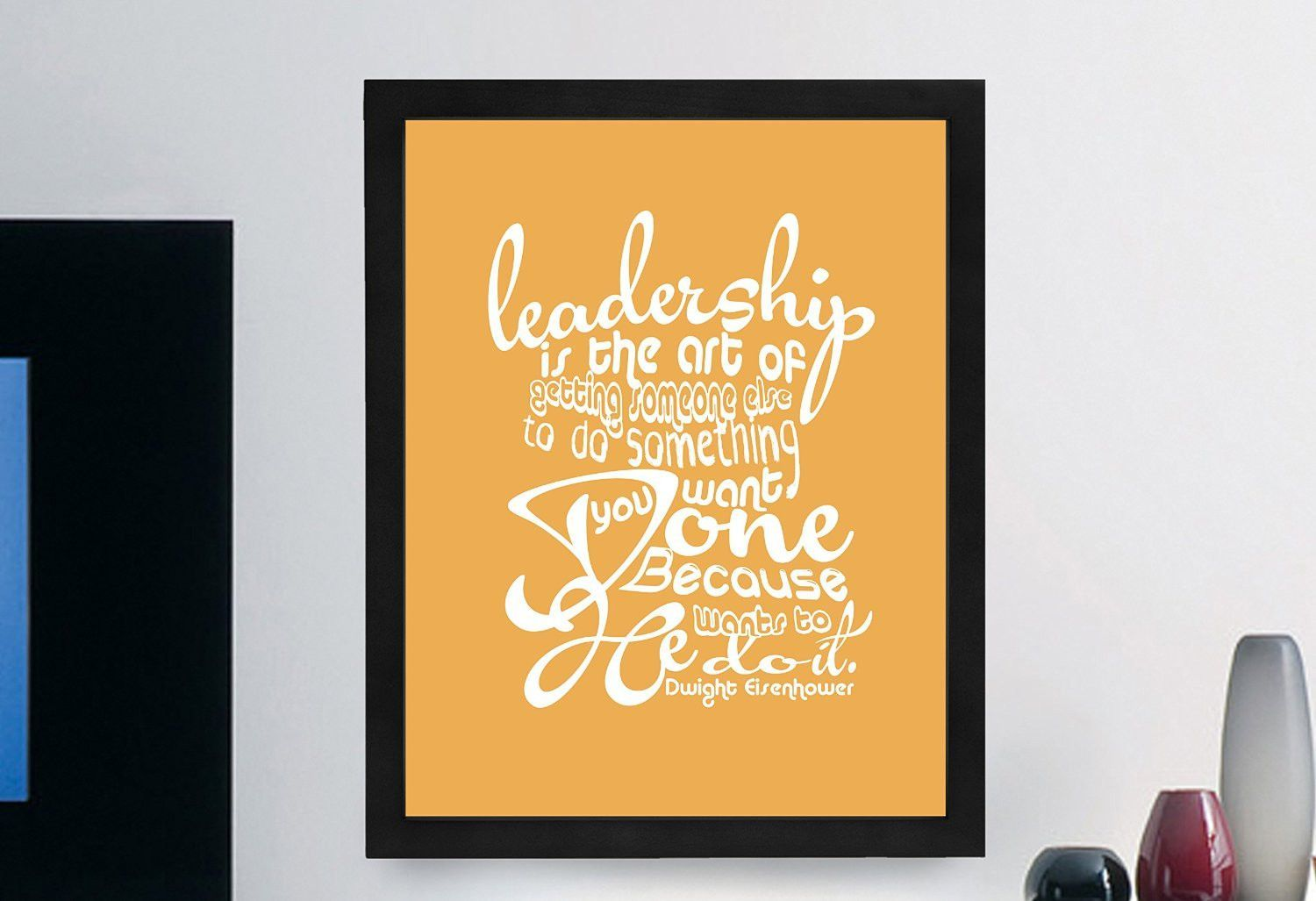 Dwight Eisenhower Inspirational Typography Quote Print | Dwight ...