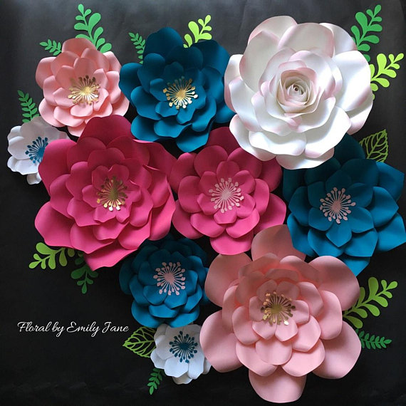 Paper Flower Home Wall Decor Paper Flowers Home Wall Decor