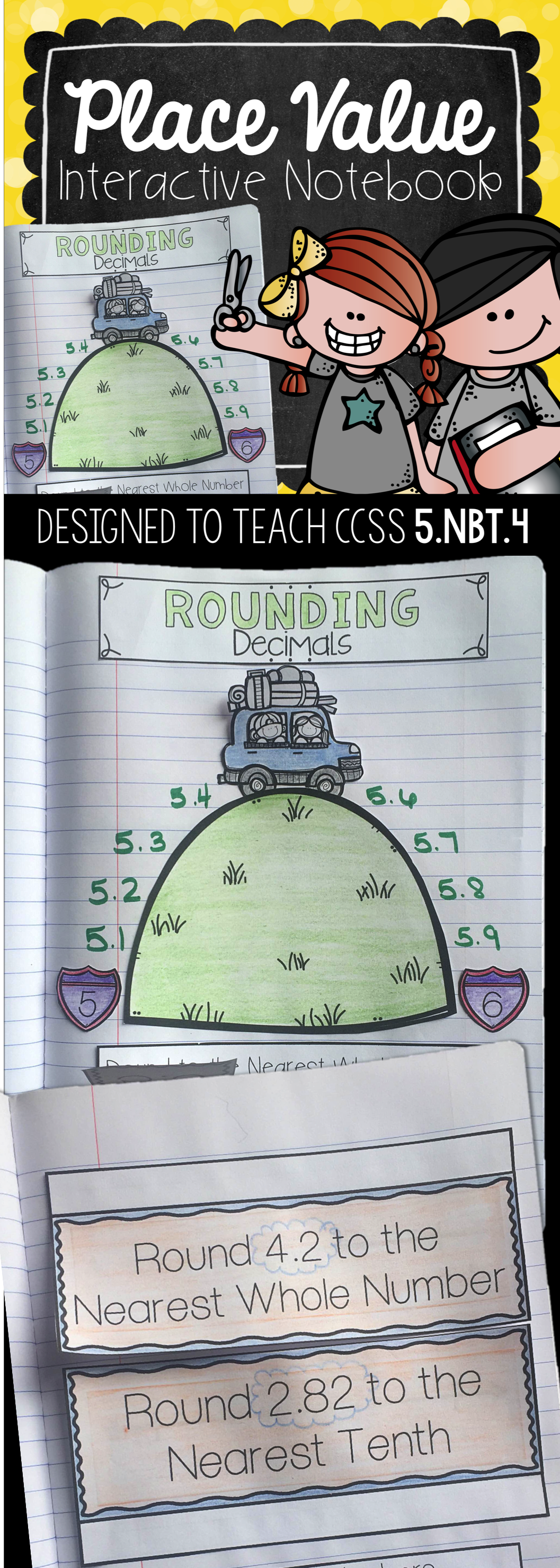 Rounding Whole Numbers And Decimals Interactive Notebook