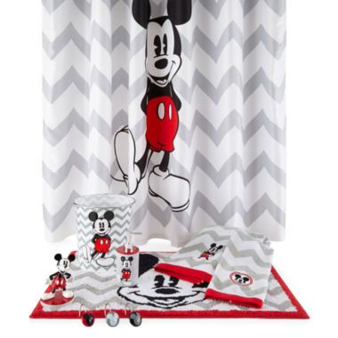 Disney Chevron Mickey Mouse Bath Collection Found At Jcpenney