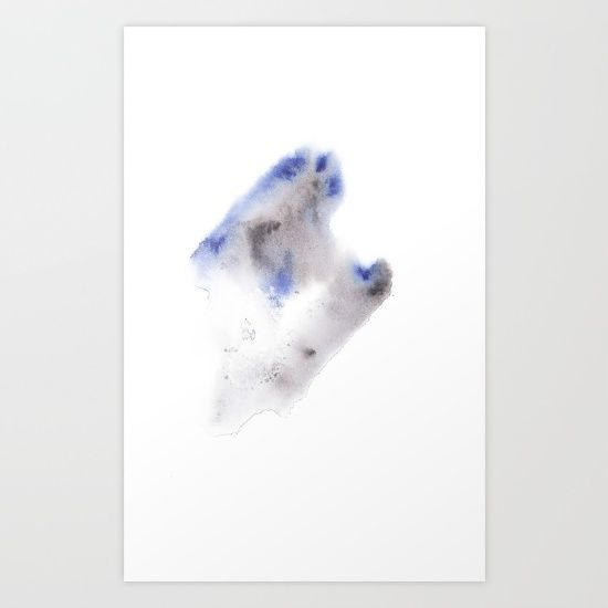 Buy 150528 Watercolour Shadows Abstract 4 Art Print by ©valourine. Worldwide shipping available at Society6.com. Just one of millions of high quality products available. checkout society6.com/valourine?curator=valourine  #watercolor #watercolours #abstract #painting #decor #interior #interiordesign #homedecor #contemporary #modern #art