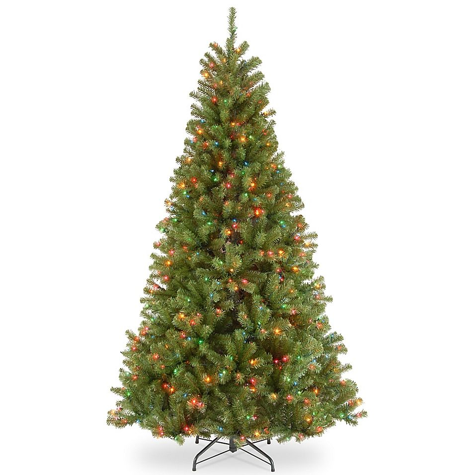 National Tree Company 9 North Valley Spruce Pre Lit Christmas Tree With Multicolor Ligh Pre Lit Christmas Tree Artificial Christmas Tree Spruce Christmas Tree