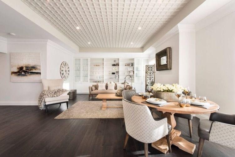 D co salon blanc pour une atmosph re accueillante 80 id es d co parquet fonc deco salon - Idee parquet salon ...