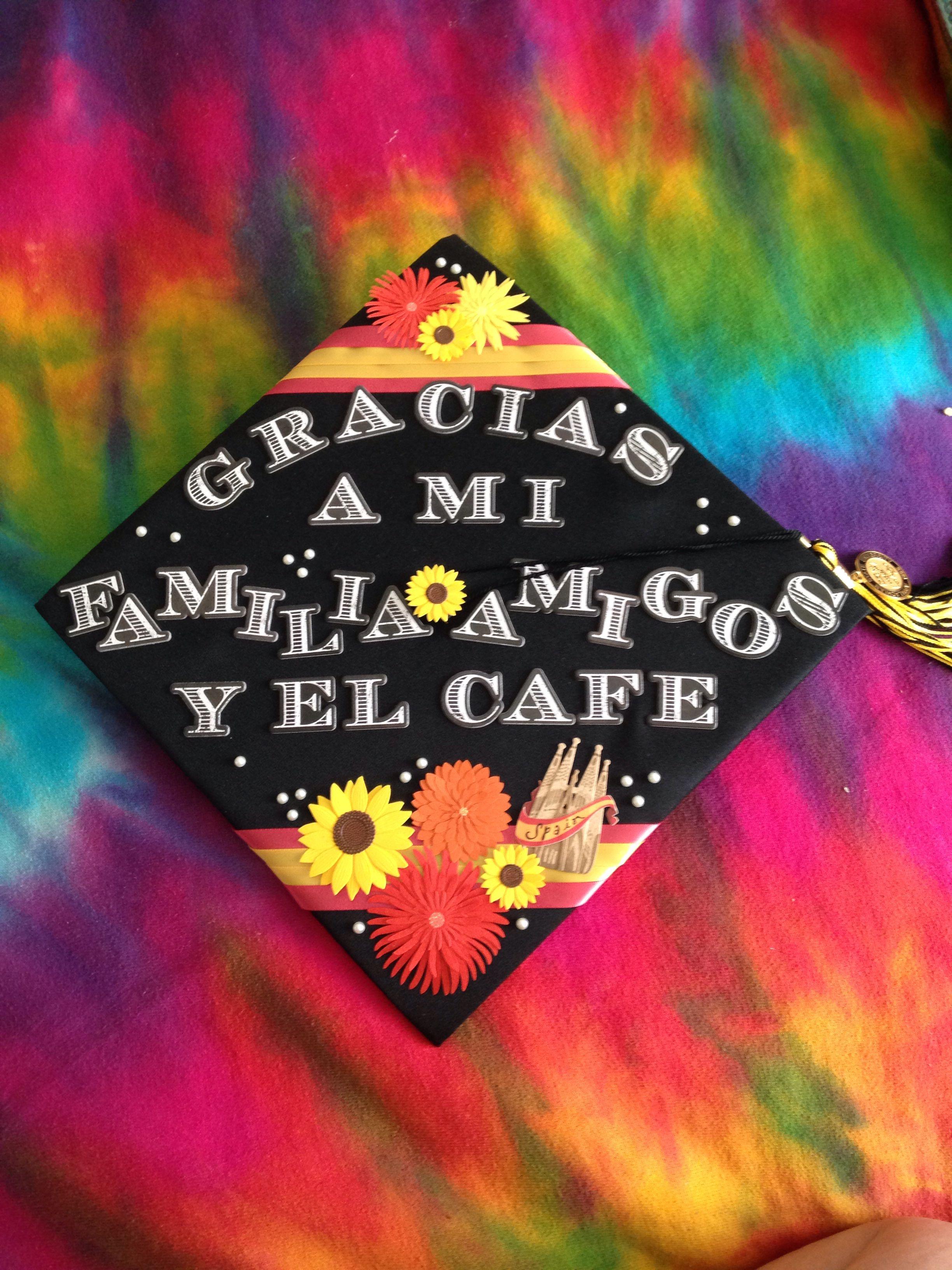 My Grad Cap For The Traveler And Spanish Major In Me Graduation Cap Decoration College Graduation Cap Decoration College Graduation Cap