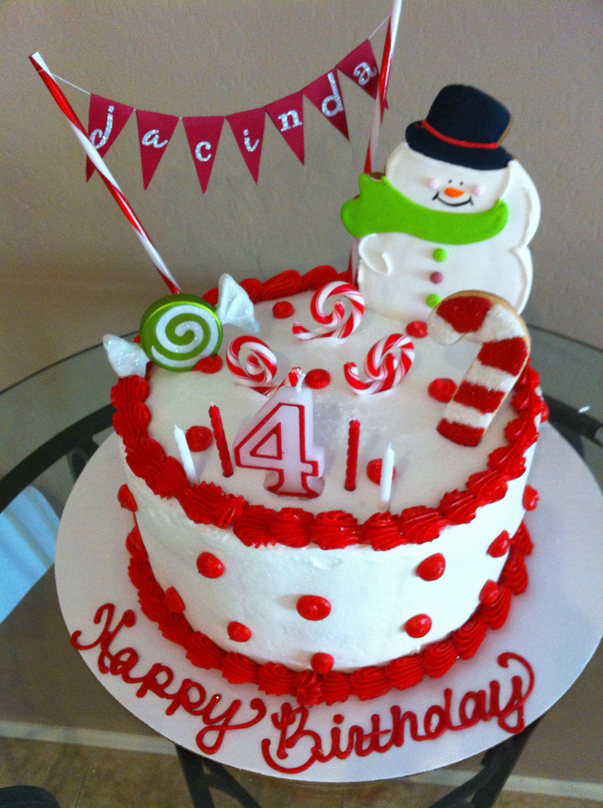 December Birthday Cake Christmas birthday cake