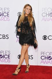 Blake Lively Fringed Dress