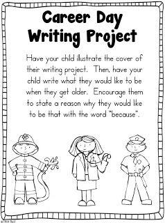 Career Day Freebie Writing Template Kindergartenklub Com Career