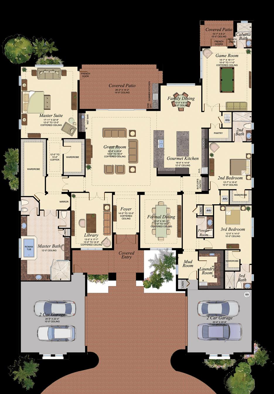 Versailles 901 Dream House Plans House Blueprints Home Design Floor Plans