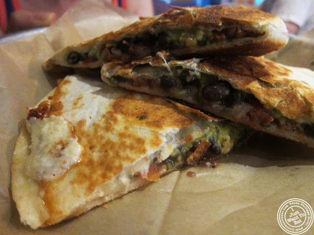 image of vegetarian black beans quesadilla at Dorado, Tacos and Quesadillas in NYC, New York
