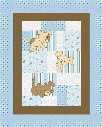 Baby Boo Baby Blanket with Puppy Embroidery *New*