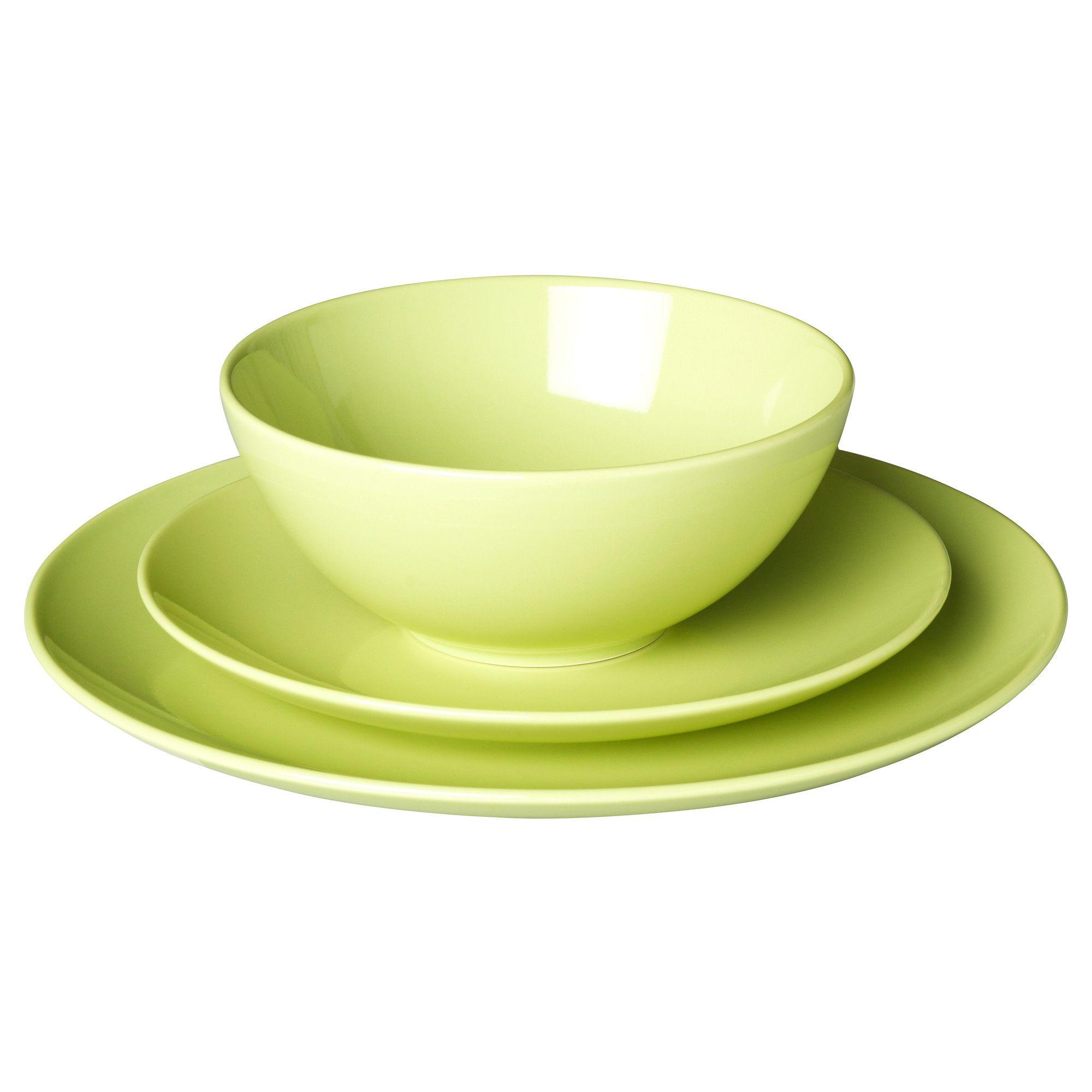 FÄRGRIK 18-piece dinnerware set - green/stoneware - IKEA got these for lunchroom  sc 1 st  Pinterest & FÄRGRIK 18-piece dinnerware set - green/stoneware - IKEA got these ...