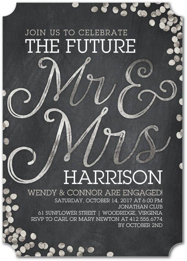 Shimmering Future Engagement Party Invitation | Engagement party ...
