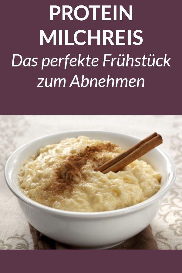 Dieser #Protein #Milchreis #ist #ein #gesundes #und #schnelles #Frühstück #zum #Abnehmen. #Hier #fin...