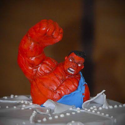 Calavera Cakery Red Hulk cake Gunnars birthday Pinterest