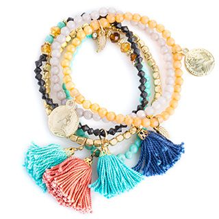 Shop for Handcrafted Set of 5 Tassel and Coin Beaded Stretch Bracelets (India). Free Shipping on orders over $45 at Overstock.com - Your Online…