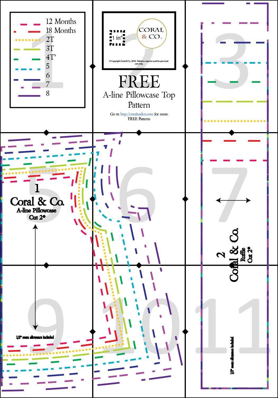FREE DIY Pillowcase Dress Pattern A-line Pillowcase Top \u0026 Dress