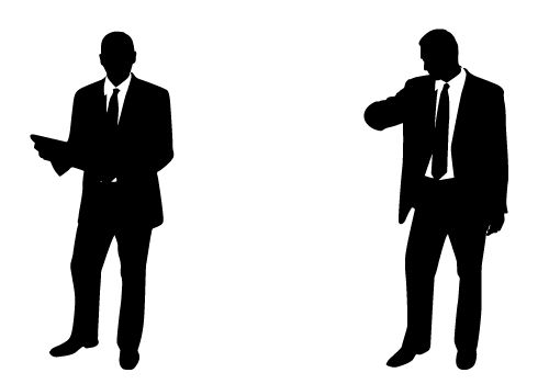 professional and handsome businessman silhouette vector free rh pinterest com au