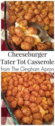 Cheeseburger Tater Tot Casserole #simplehealthydinner