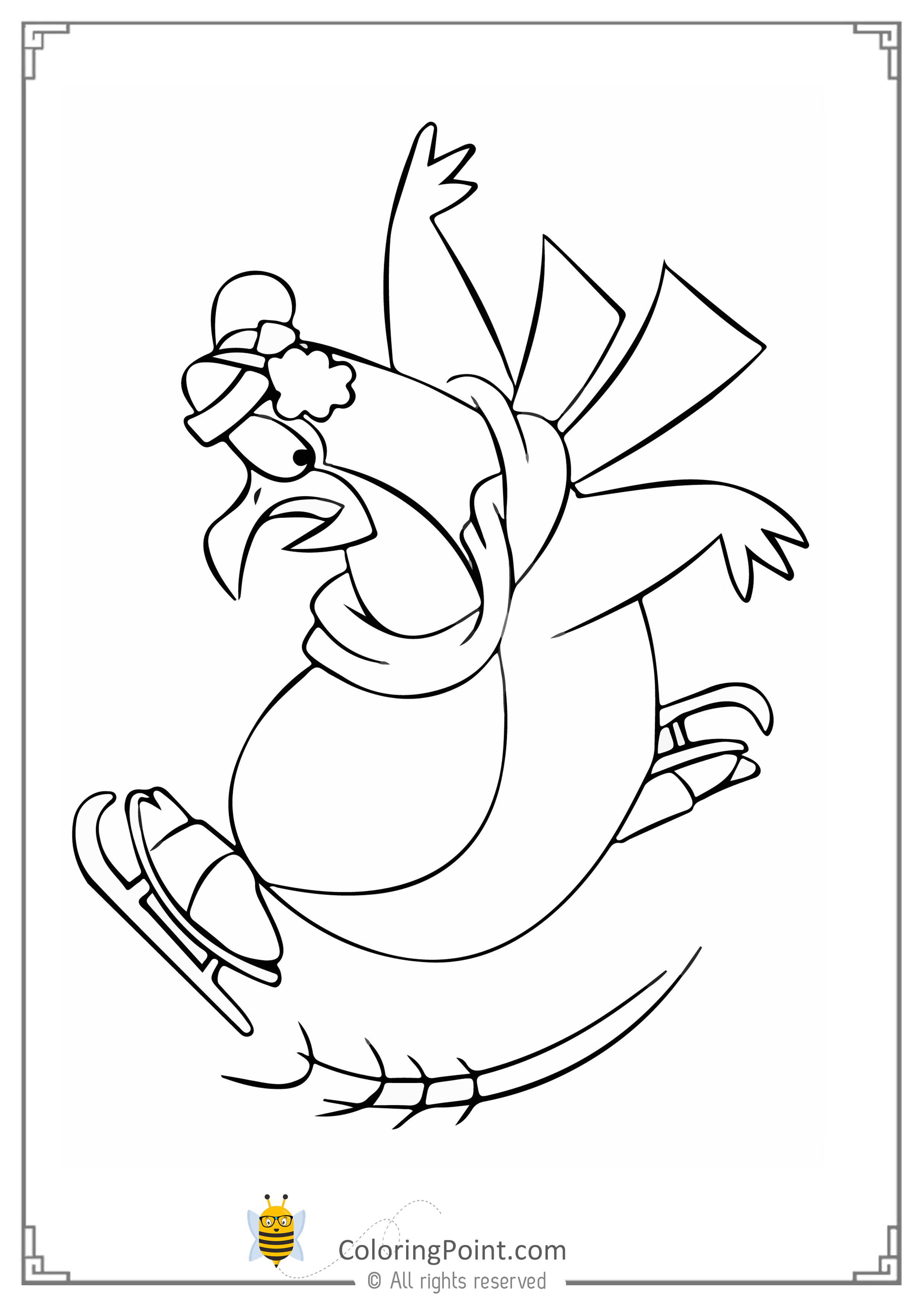penguin coloring page for kids Coloring Point Coloring