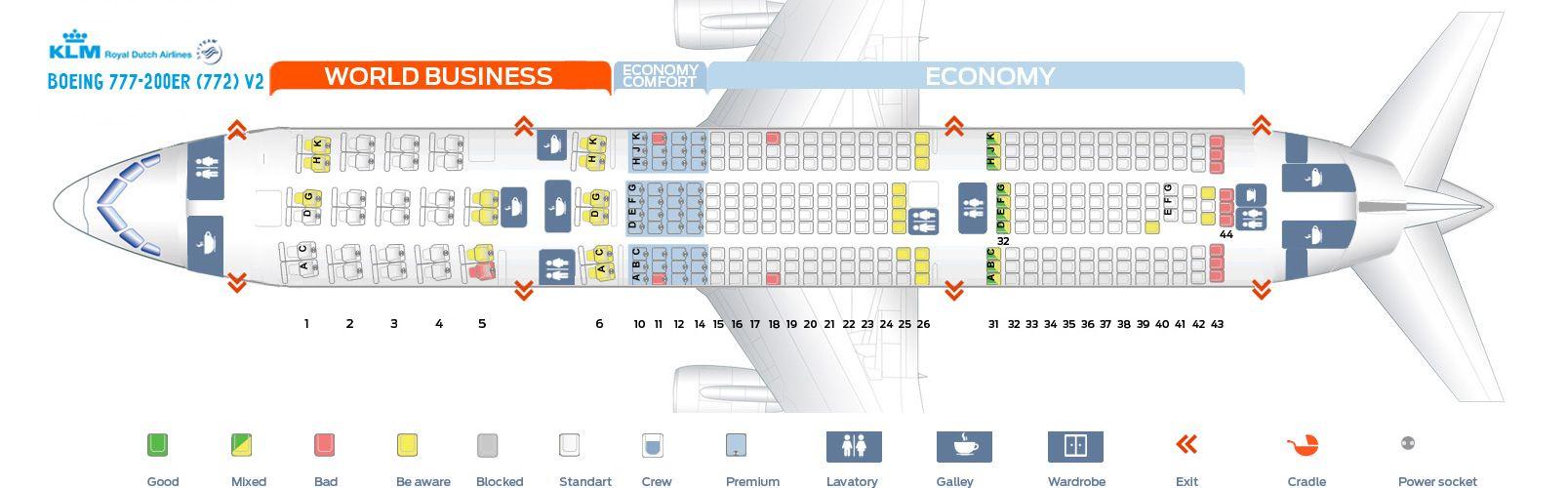 KLM Fleet Boeing 777200ER Details and Pictures. KLM Fleet