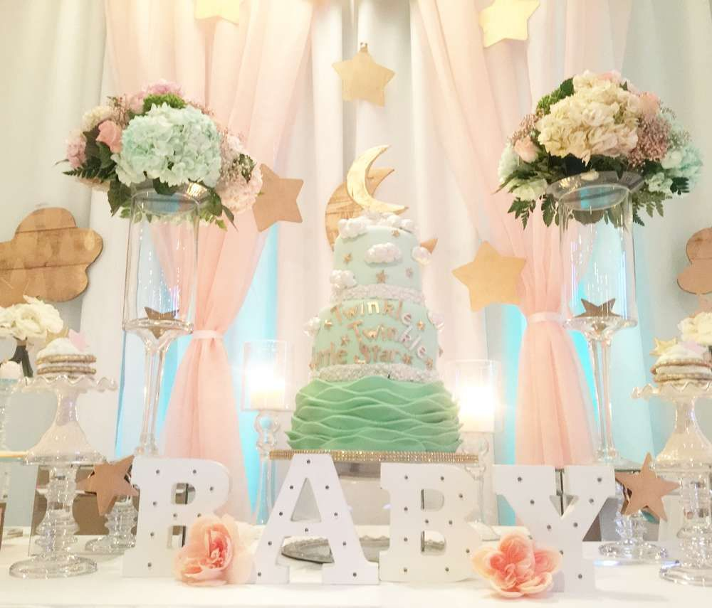 Sky, moon and stars Baby Shower Party Ideas   Pinterest   Star baby ...