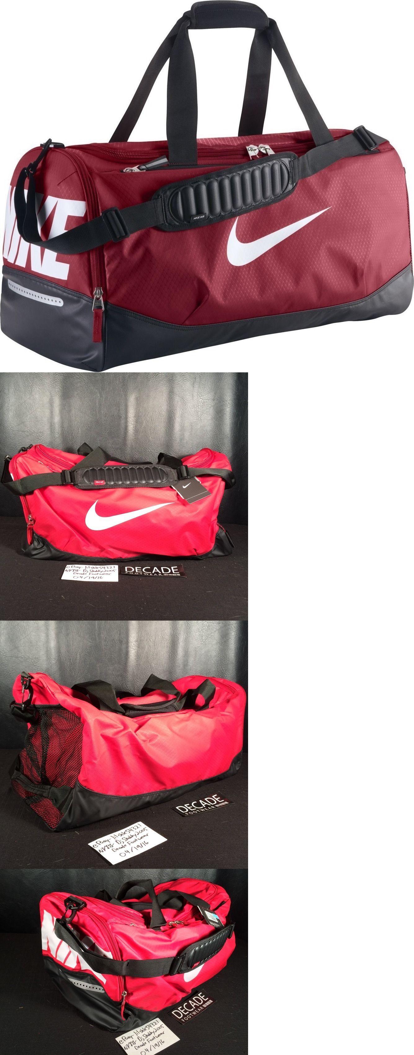 Bags and Backpacks 163537: Nike Air Max Duffel Gym Training Black Red Medium Bag Travel School Ba4895 601 -> BUY IT NOW ONLY: $34.99 on eBay!