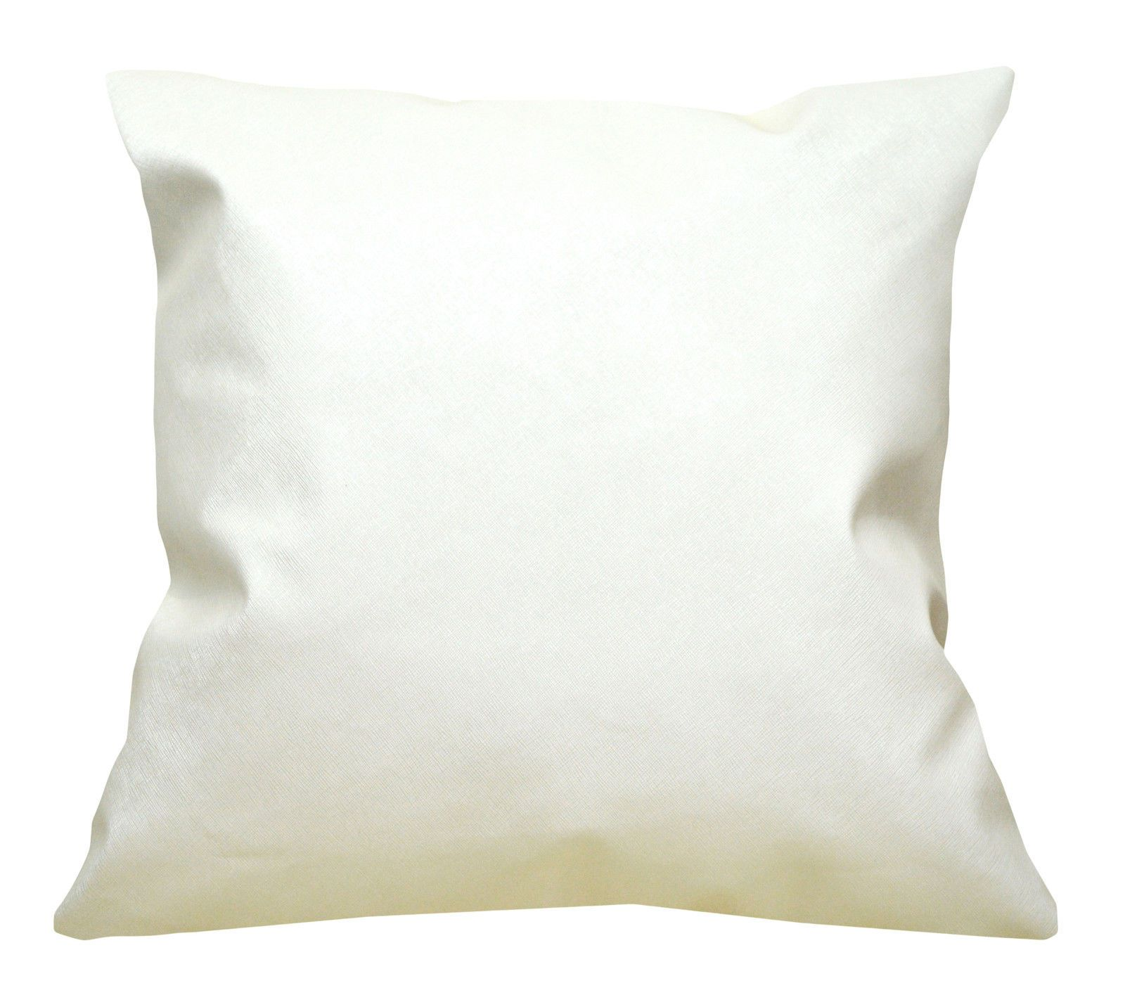 Pc503a Pearl Cream Faux Leather Cross Pattern PVC Cushion Cover//Pillow Case