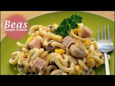 Nudelsalat Rezept | Salat Klassiker Kochen | Kalte Küche ...
