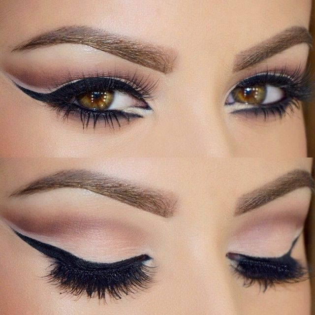 """#motd  @loraccosmetics Pro Palette on the eyes. Inglot gel liner #77 and NYC liquid liner to darken. @houseoflashes """"Pixie Luxe"""" lashes. Makeup Forever Smokey Lash mascara. L'oréal Voluminous smoldering eye pencil on the waterline ✨ #glamrezy"""