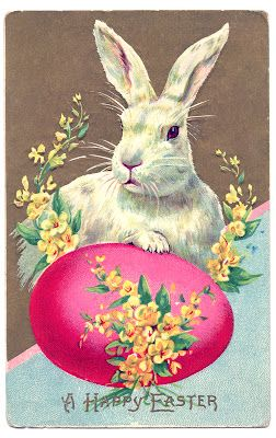 21 Easter Bunny Images Free Updated Vintage Easter Cards Vintage Easter Easter Clipart