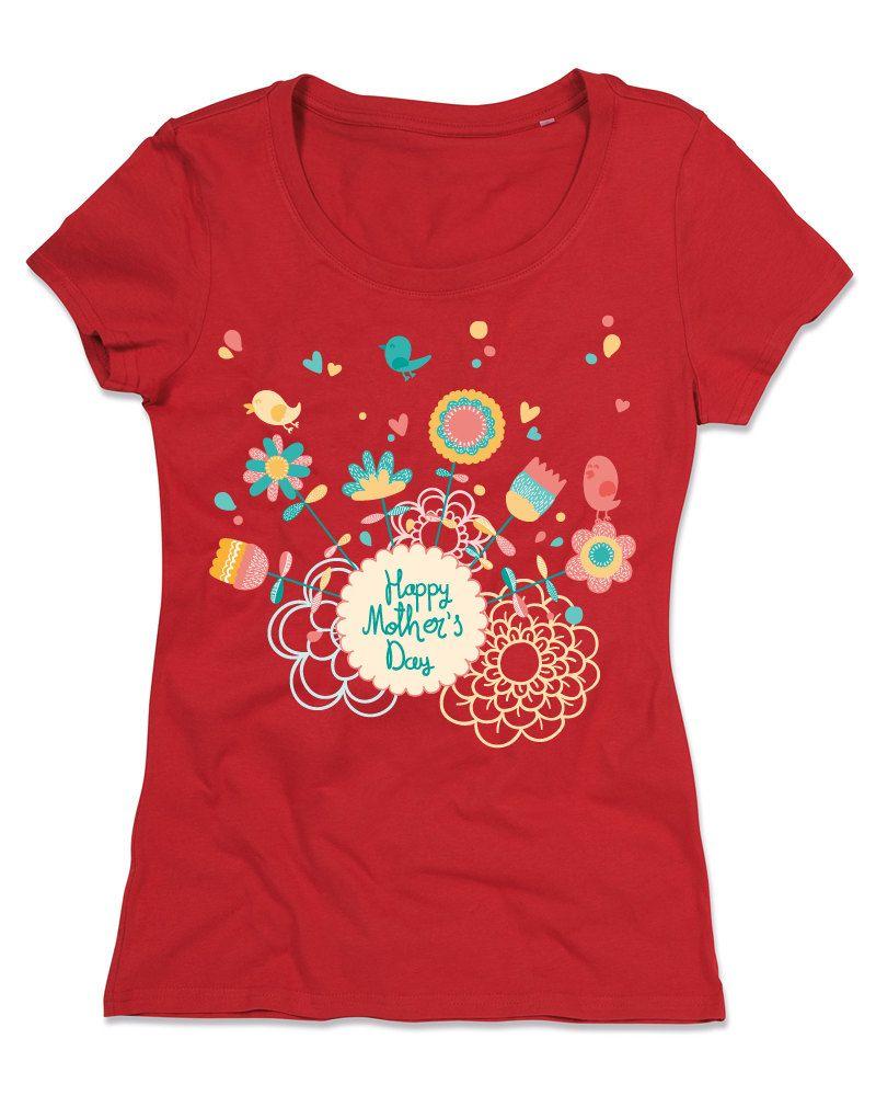 T-shirt Personalizzate Donna Girocollo Cotone Organico  FESTA DELLA MAMMA 1 di TshirtByBrand su Etsy