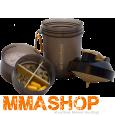 Shaker til dit proteinpulver. Kan også opbevare dine vitamin piller, Amino/BCAA tabs osv.  http://www.mmashop.dk/protein-pulver