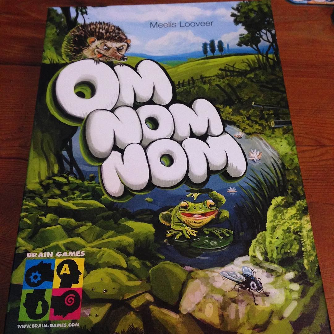 Next up is that well known game Om Nom Nom #HappyPlace #gamesnight #BigBoxCafe