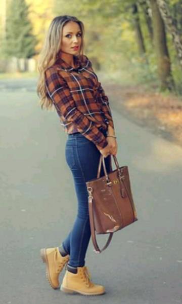 Pinterest: @sereinserenity   ♡ looks ♡   Botas timberland