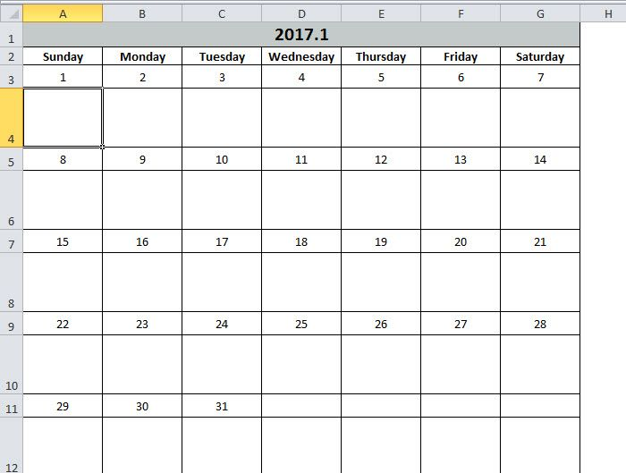 How to Create a Calendar in Your Excel Worksheet with VBA Script