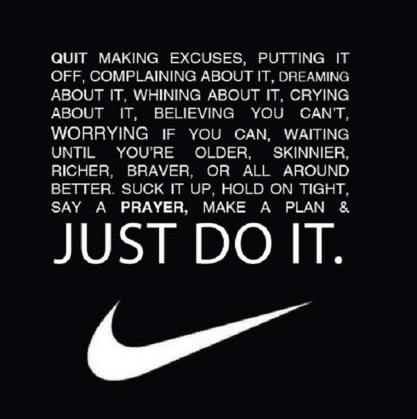 Nike Motivational Quotes My Wallpaper Blog Great Sports Quotes Quit Making Excuses Sports Quotes