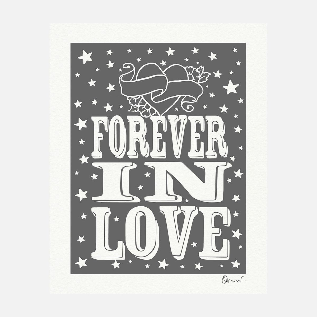 eu.Fab.com   Forever In Love Print Grey