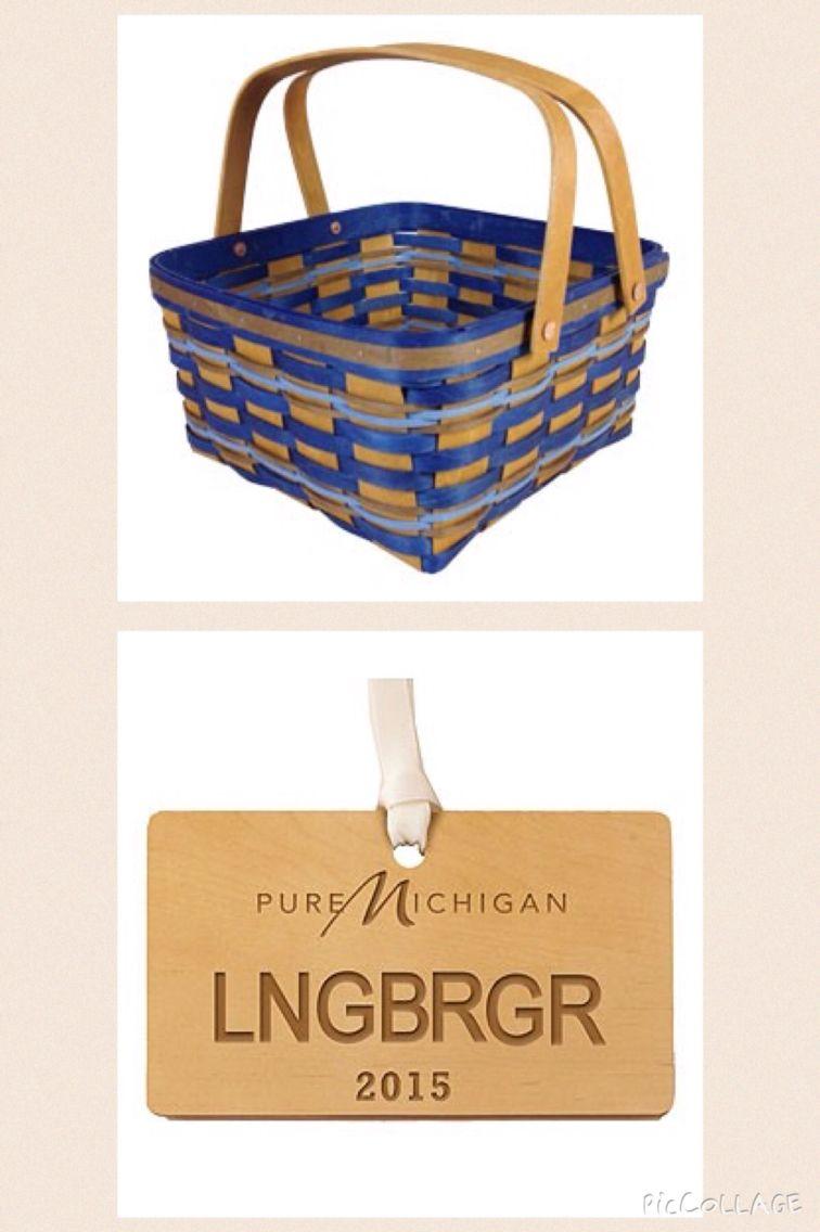 Michigan Longaberger Basket | Longaberger Baskets USA | Pinterest