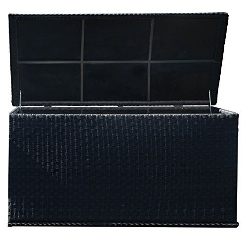 Yakoe 21217 147x67x70 cm Waterproof Rattan Garden Storage Box Foldable Cushion Chest Unit Patio Furniture -  sc 1 st  Pinterest & Yakoe 147x67x70 cm Waterproof Rattan Garden Storage Box Foldable ...