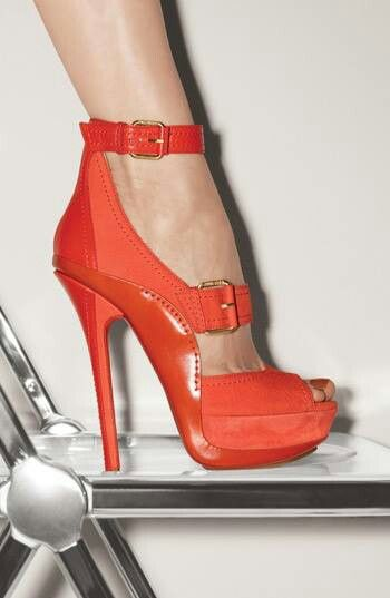 Red heels and buckles