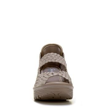 Skechers Women's Parallel Wedge Sandals (Taupe/Silver) - 7.0 M